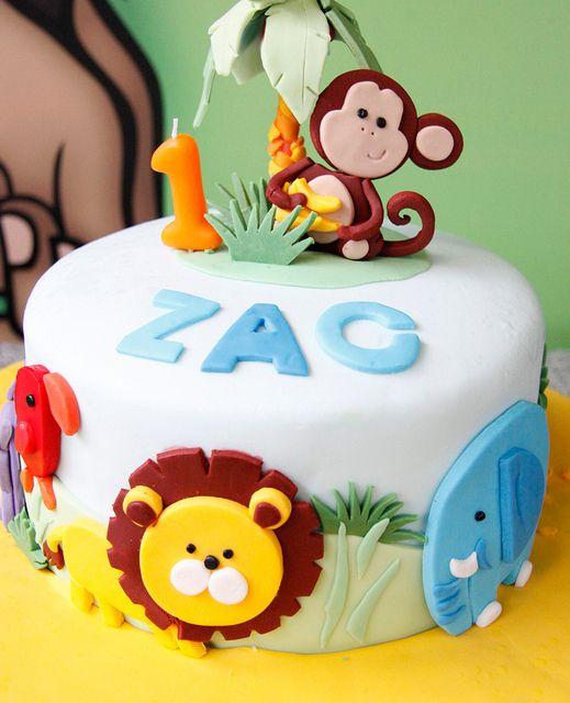9 Animal Themed Birthday Cakes Photo Jungle Animal Birthday Cake