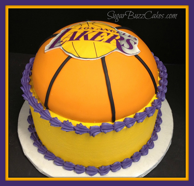 Lakers Basketball Cake