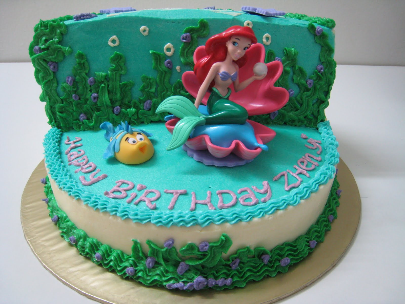 9 Ariel Cakes Designs Photo Little Mermaid Cake Little Mermaid