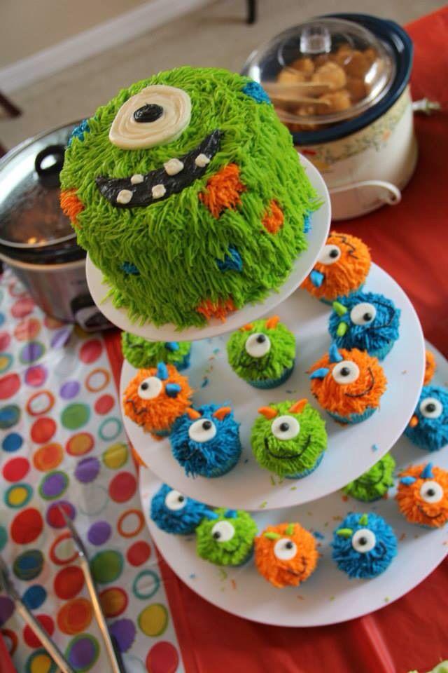 Marvelous 11 Boy Birthday Monster Cupcakes Photo Monster First Birthday Funny Birthday Cards Online Inifofree Goldxyz