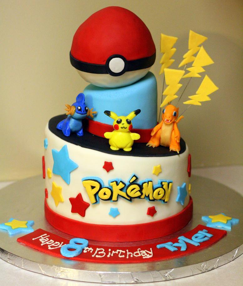 Awe Inspiring 12 Pokemon Birthday Cakes Photo Pokemon Birthday Cake Pokemon Funny Birthday Cards Online Alyptdamsfinfo