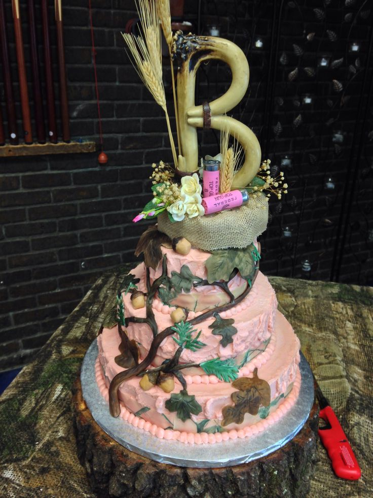 9 Pink Camouflage Wedding Cakes Photo - Pink Camo Wedding Cake ...