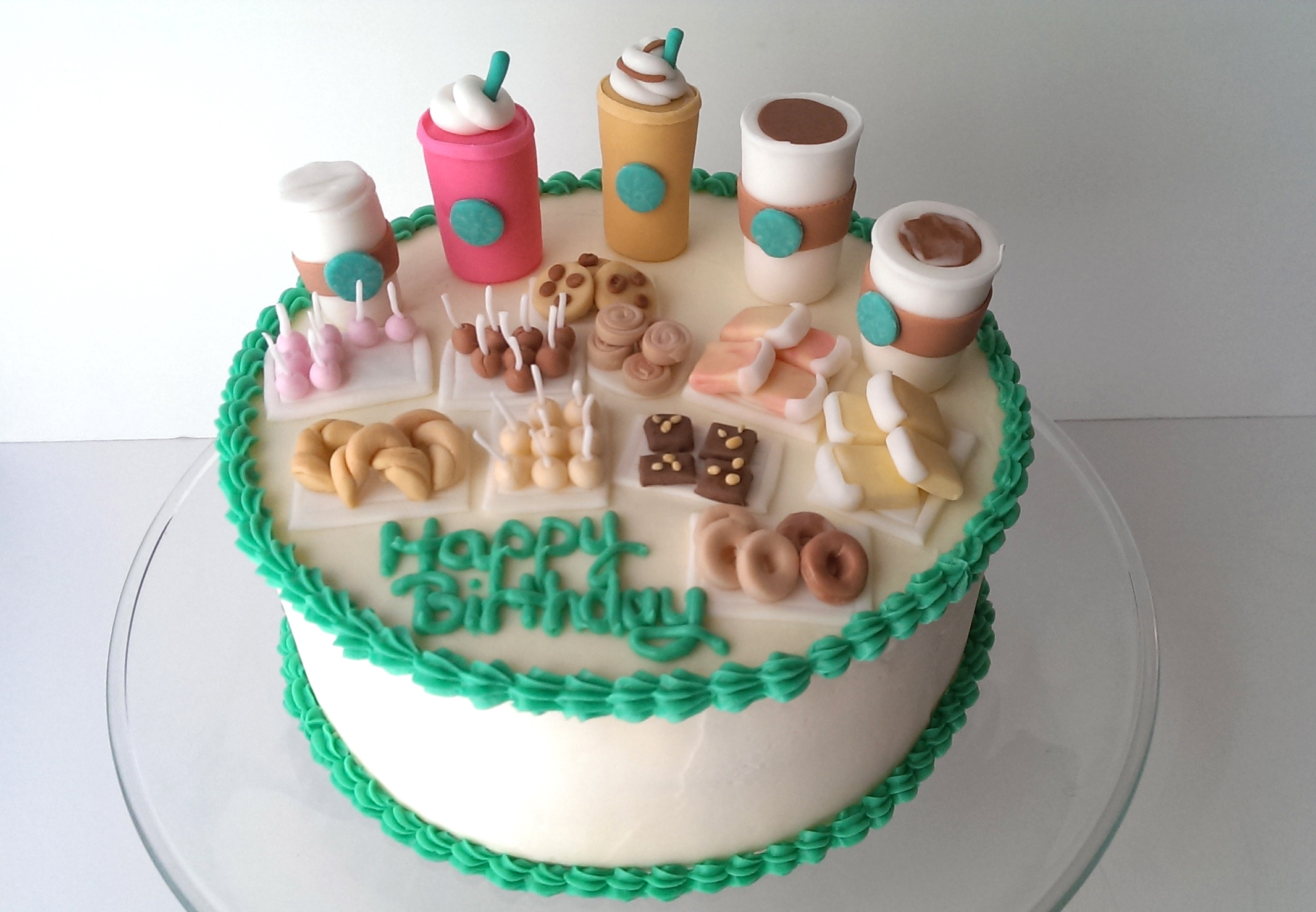 Excellent 10 Starbucks Themed Birthday Cakes Easy Photo Starbucks Themed Funny Birthday Cards Online Unhofree Goldxyz