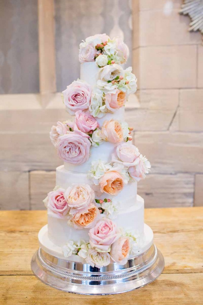 8 wedding cakes pink and peach flowers with twine photo floral wedding cake with pink flowers mightylinksfo
