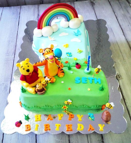 Cool 11 Easy Birthday Cakes Pooh Photo Winnie The Pooh Birthday Cake Funny Birthday Cards Online Necthendildamsfinfo
