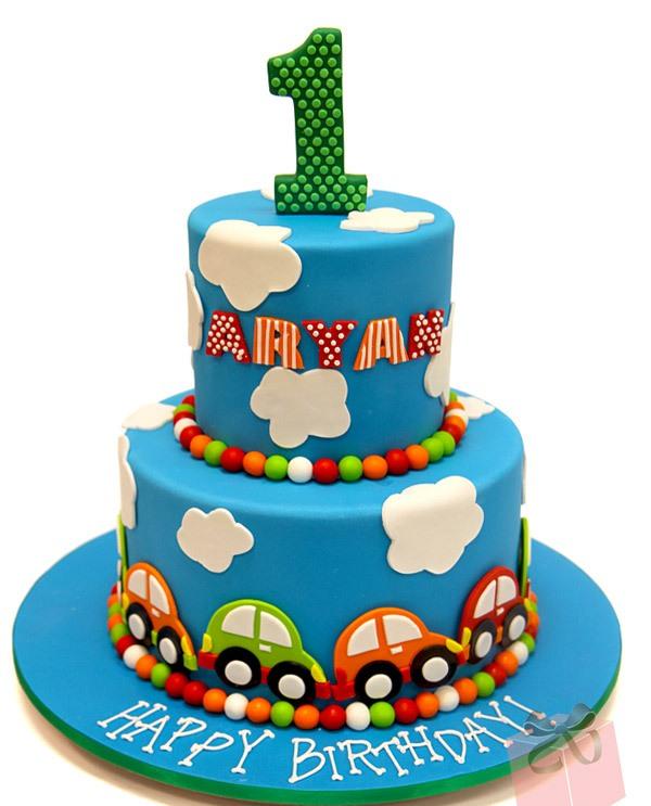 6 Baby Boy First Birthday Cakes Photo Baby Boy First Birthday Cake