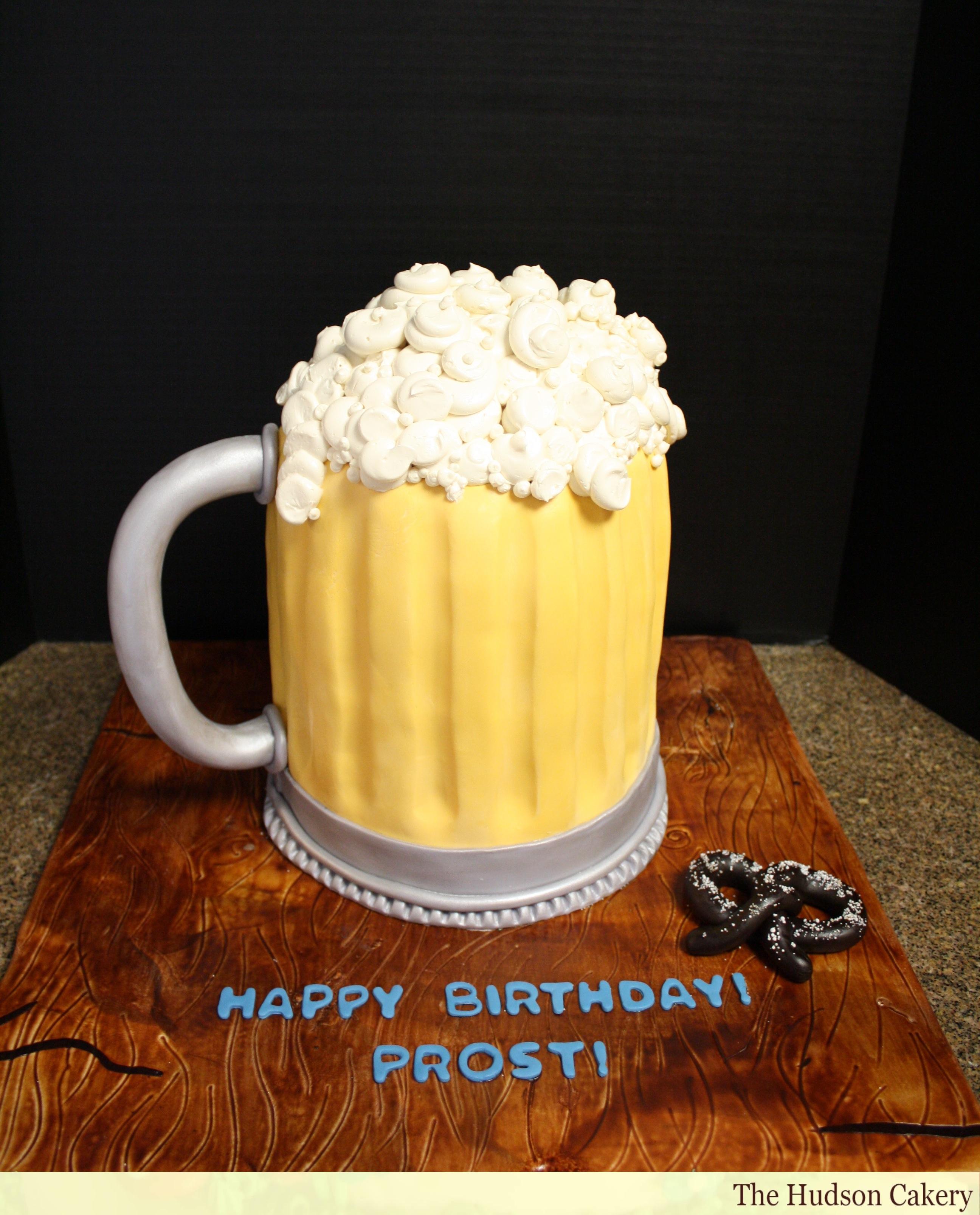 Remarkable 8 Happy Birthday Beer Mug Cakes Photo Beer Birthday Cake Mug Funny Birthday Cards Online Sheoxdamsfinfo