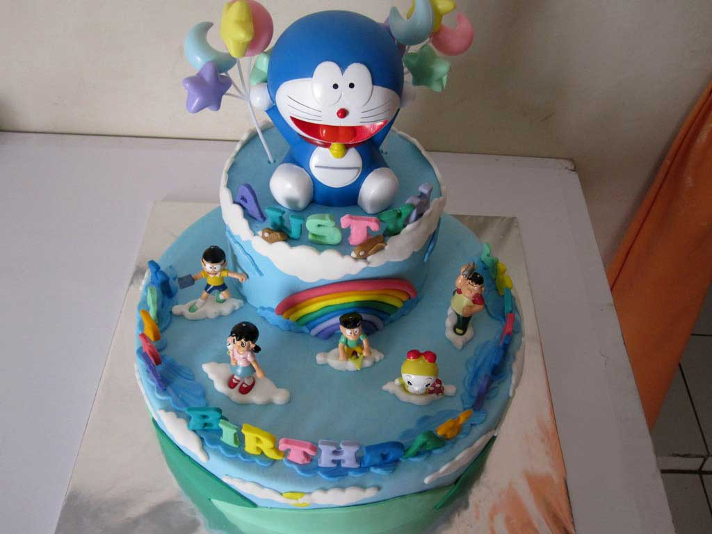 5 Carton Birthday Cakes Photo