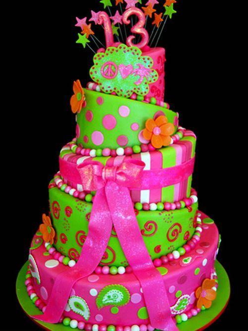 11 Colorful Birthday Cakes For Girls Photo Girls Rainbow Birthday