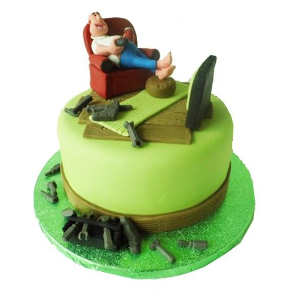 12 Cute Fathers Day Cakes Easy Photo Fathers Day Golf Cupcakes