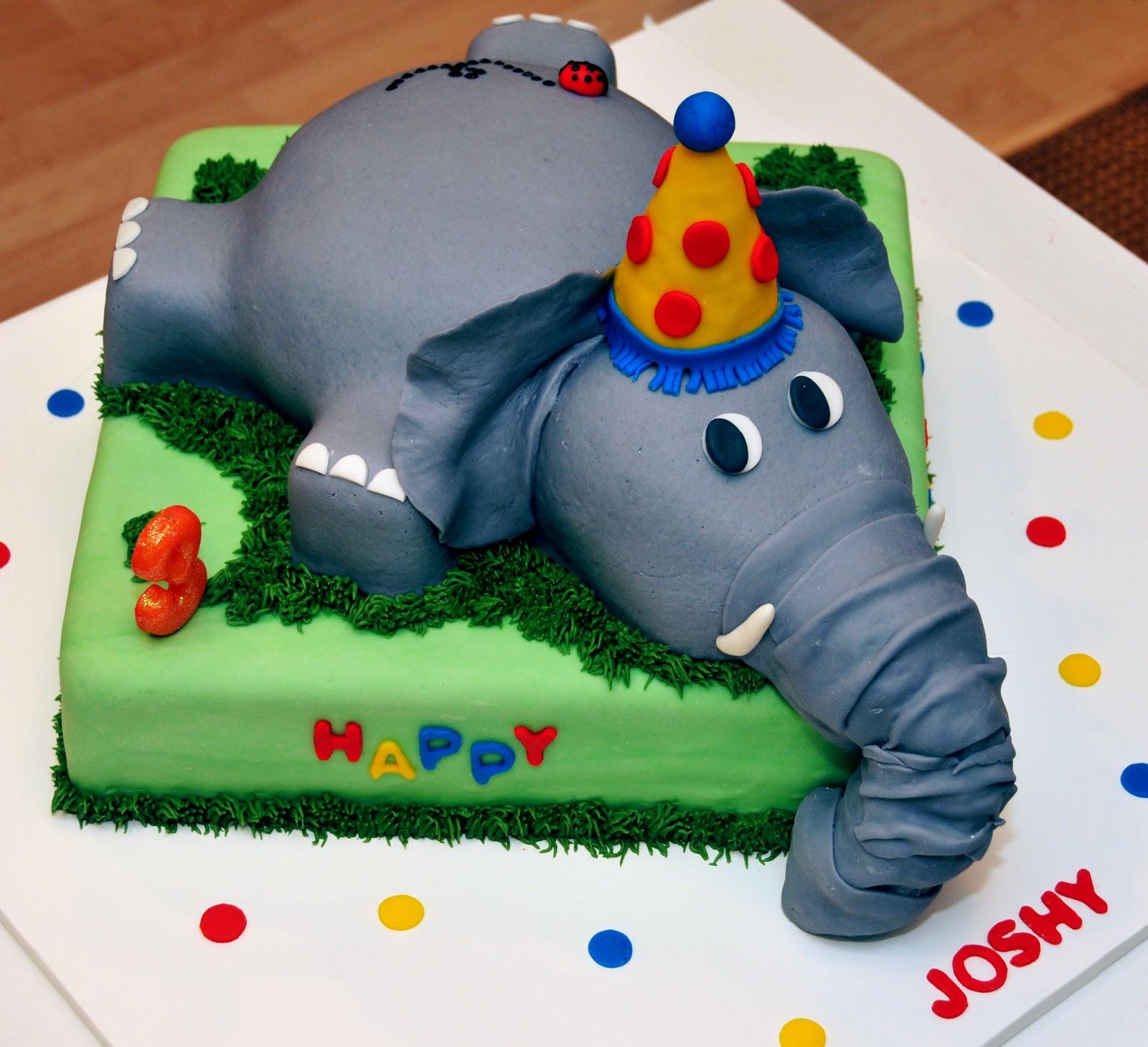 Swell 12 Small Elephant Birthday Cakes Photo Elephant Birthday Cake Funny Birthday Cards Online Overcheapnameinfo