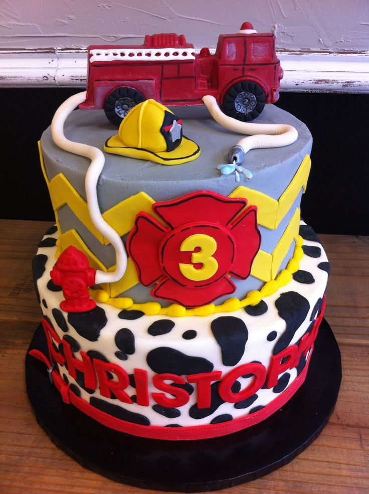 Surprising 12 Firefighter Themed Birthday Cakes Photo Fire Department Personalised Birthday Cards Veneteletsinfo