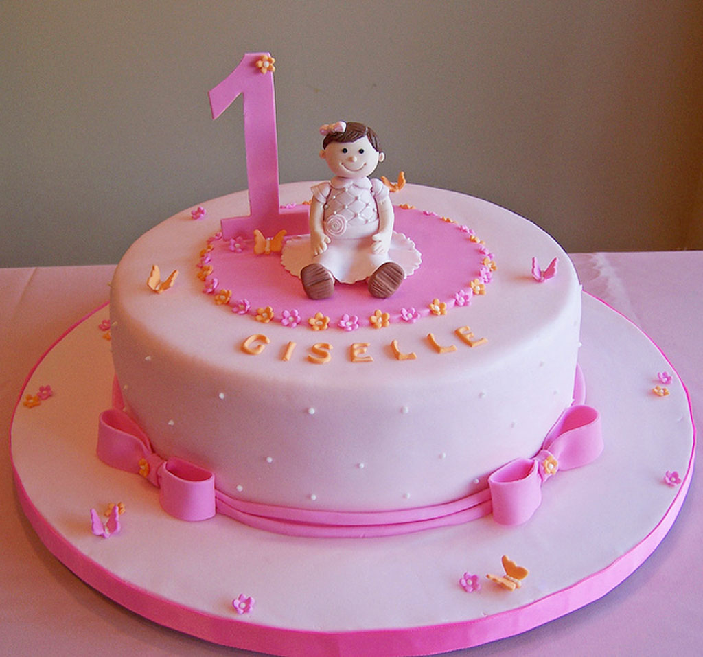 9 First Year Birthday Cakes For Girls Photo Girls 1st Birthday