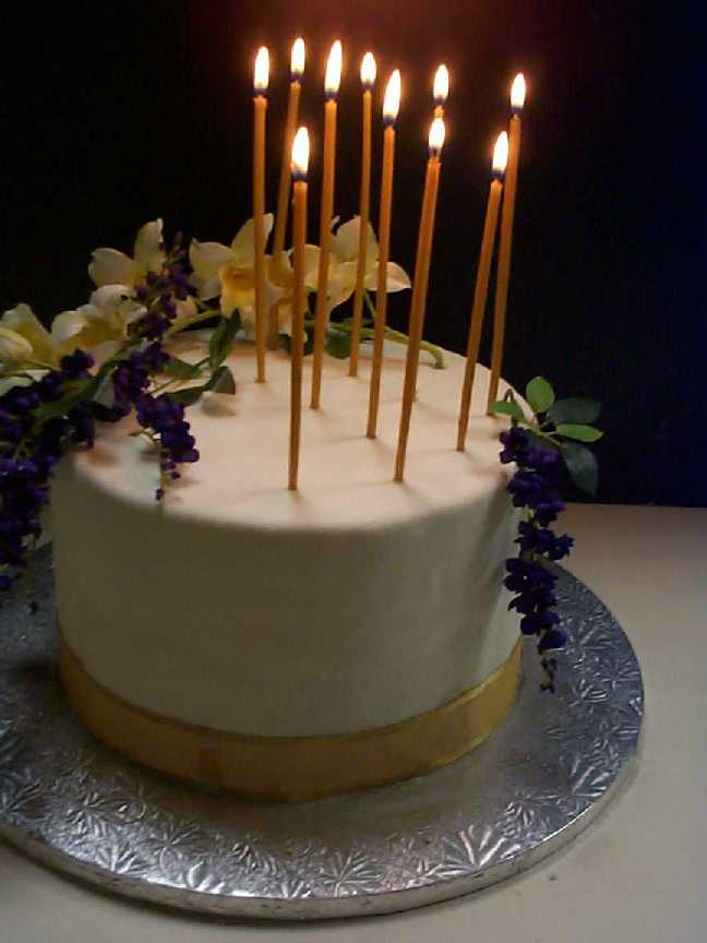 Happy Birthday Elegant Cakes With Candles