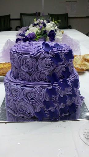 lavender bridal shower cake