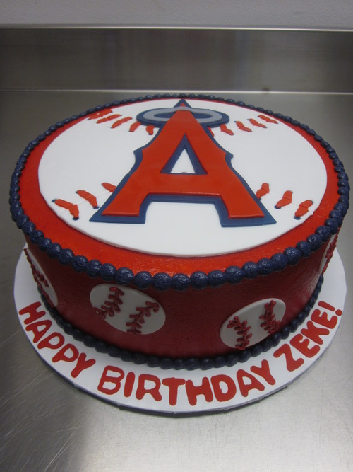 Los Angeles Angels Birthday Cake