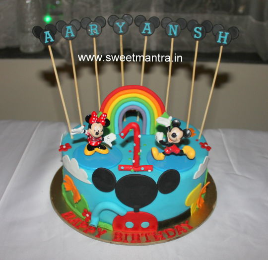 Mickey Mouse First Birthday Cakes For Boys
