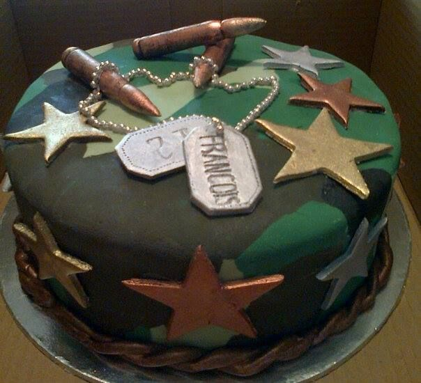 13 Army Themed Cakes Photo Military Themed Birthday Cakes Army