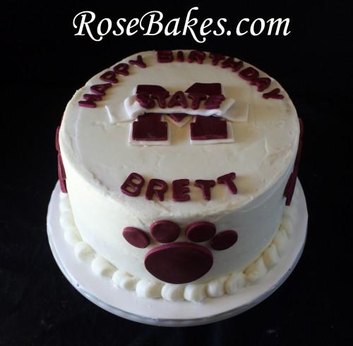 Fantastic 13 Ms Birthday Cakes Photo Mississippi State Birthday Cake Personalised Birthday Cards Paralily Jamesorg