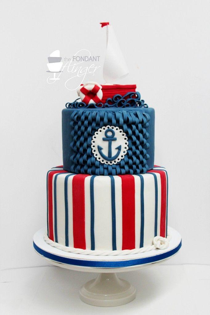 10 Nautical Themed 30th Birthday Cakes Photo 30th Birthday Cake