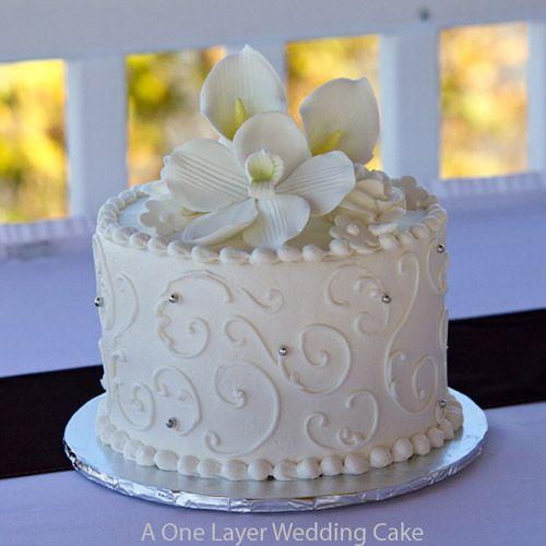 6 Single Layer English Wedding Cakes Photo - One Layer Wedding Cake ...