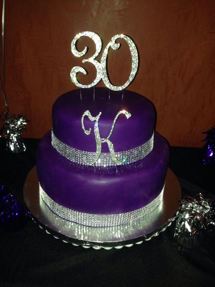 12 Bling Birthday Gift Cakes Fondant Photo Purple Bling Birthday