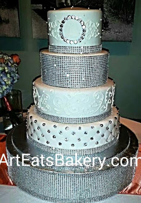 13 Diamond Rhinestone Tier Cakes Photo - Grimsby Wedding Cake ...