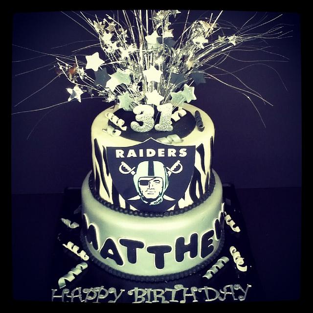 8 Raiders Happy Birthday Jesse Cakes Photo Happy Birthday Raider