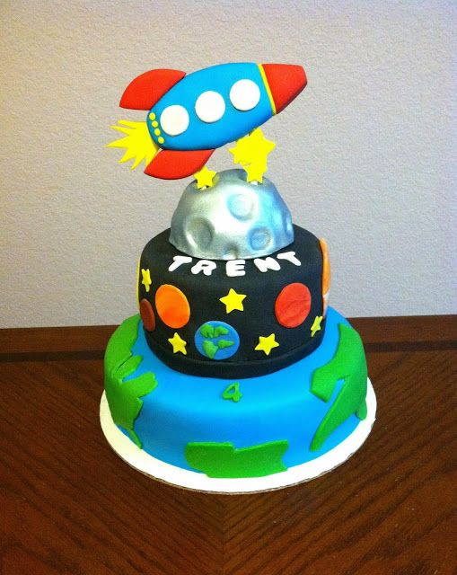 Excellent 11 Moon Spaceship Birthday Cakes Photo Solar System Birthday Funny Birthday Cards Online Sheoxdamsfinfo