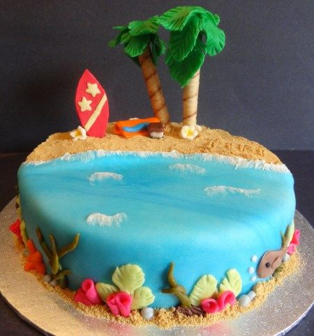12 Summer By Cakes Photo Summer Cake Decorating Ideas Summer Cake