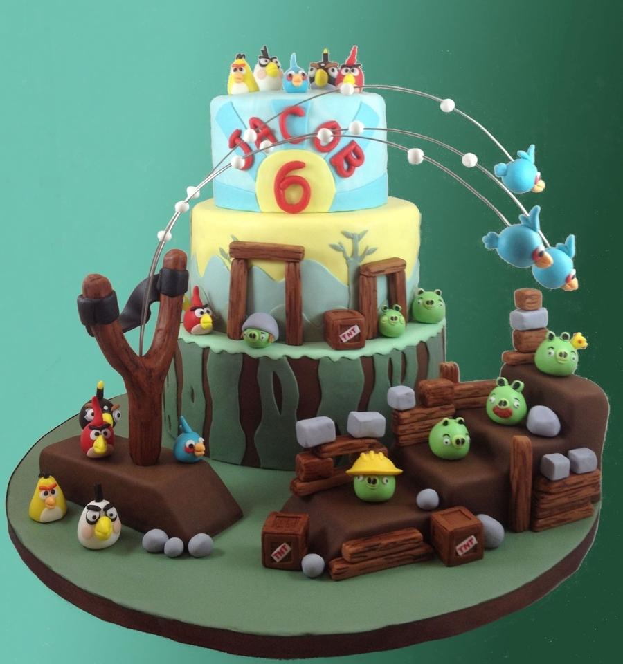 Pleasing 10 Angry Bird Birthday Cakes Mars Photo Angry Birds Birthday Funny Birthday Cards Online Overcheapnameinfo