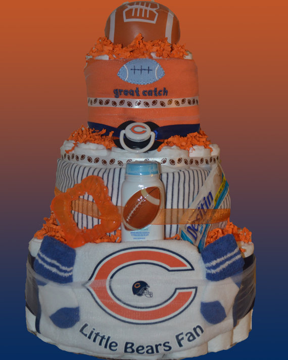 11 Chicago Bears Shower Cakes Photo Chicago Bears Football Cake