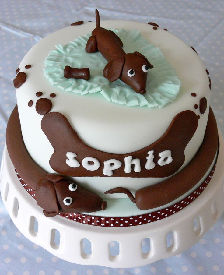 Astonishing 13 Doxies Birthday Cakes Photo Dachshund Birthday Cake Funny Birthday Cards Online Unhofree Goldxyz