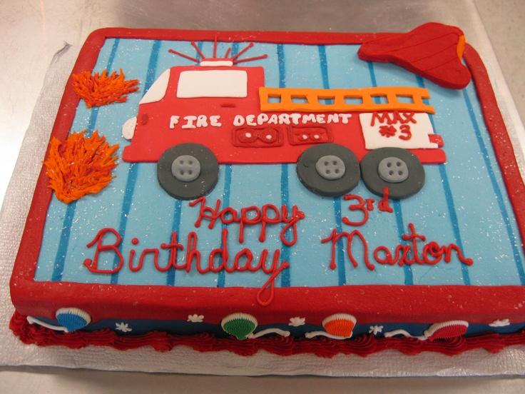 9 Albertsons Bakery Birthday Cakes Fire Truck Cake Photo Fire