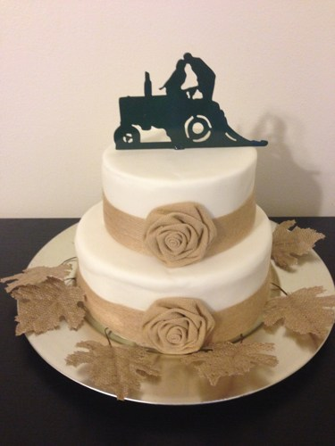 12 Tractor Wedding Cake Toppers For Cakes Photo - Tractor Wedding ...
