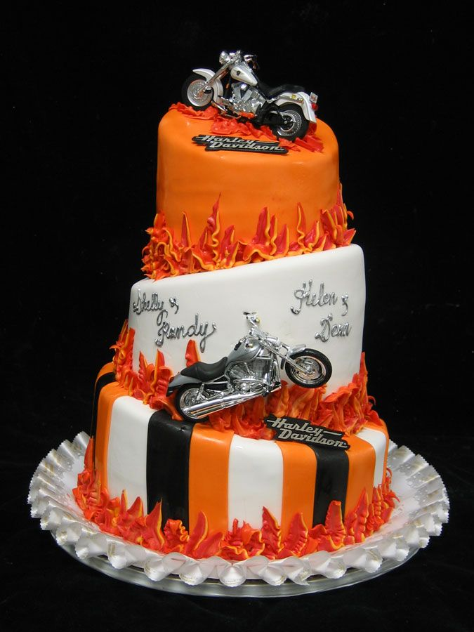 Wondrous Harley Davidson Cake Toppers Wedding Cakes Funny Birthday Cards Online Fluifree Goldxyz