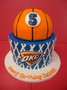 13 OKC Basketball Cakes Photo - OKC Thunder Birthday Cake, Oklahoma ...
