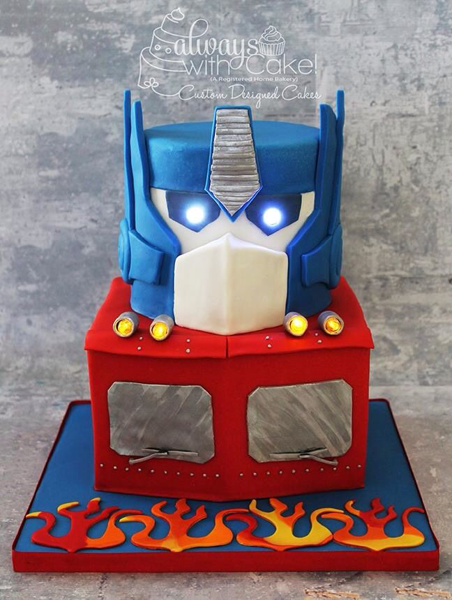 Peachy 12 Cool Optimus Prime Cakes Photo Optimus Prime Transformer Cake Personalised Birthday Cards Paralily Jamesorg