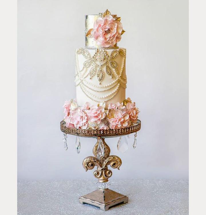 11 Elegant Gold Wedding Cakes Photo - Elegant Gold Wedding Cake ...