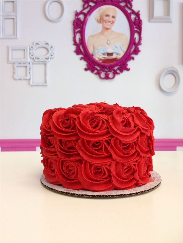11 Red Birthday Cakes For Women Photo Shoe Birthday Cakes Red And