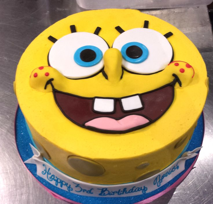 Groovy 7 Small Spongebob Cakes Photo Spongebob Birthday Cake Spongebob Birthday Cards Printable Inklcafe Filternl