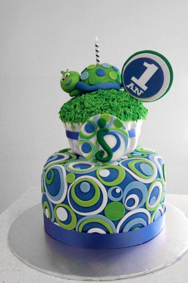 10 Turtle Animal Birthday Cakes Photo Turtle Cake And Cupcakes