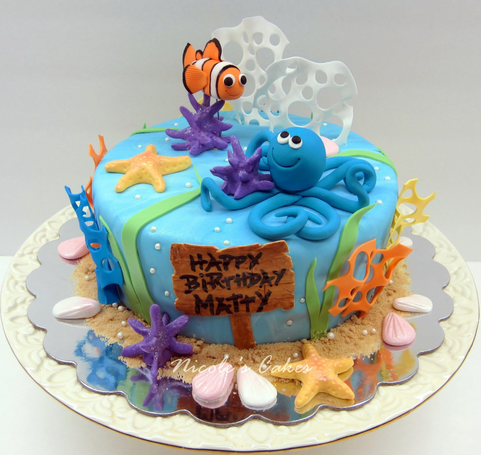 12 Ocean Themed Boy Birthday Cakes Photo 1 Year Boy Birthday Cake