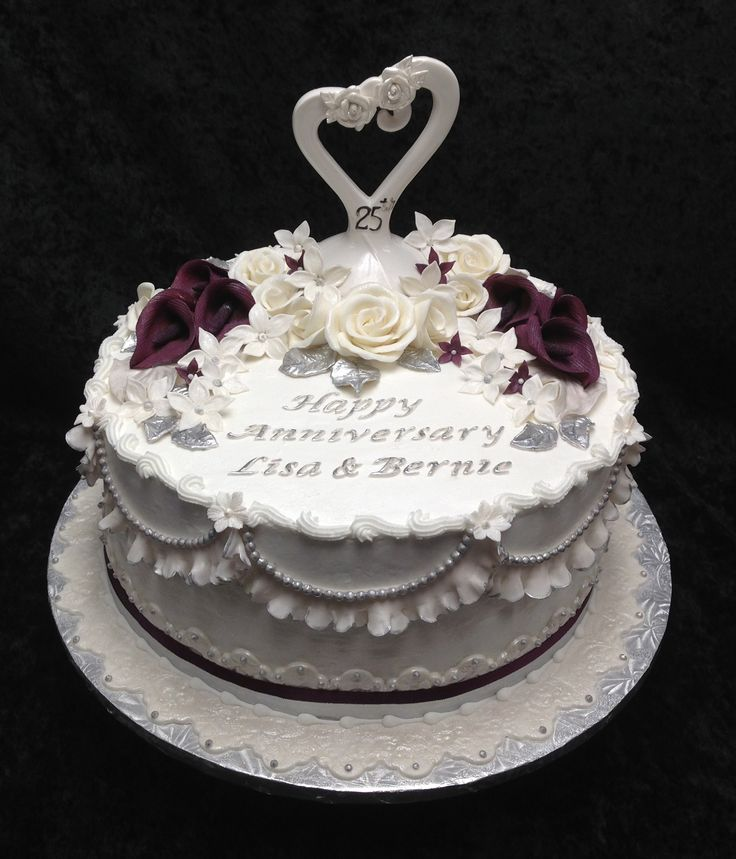 25th wedding anniversary cake ideas 12 25th anniversary cakes photo happy 25th wedding 1072