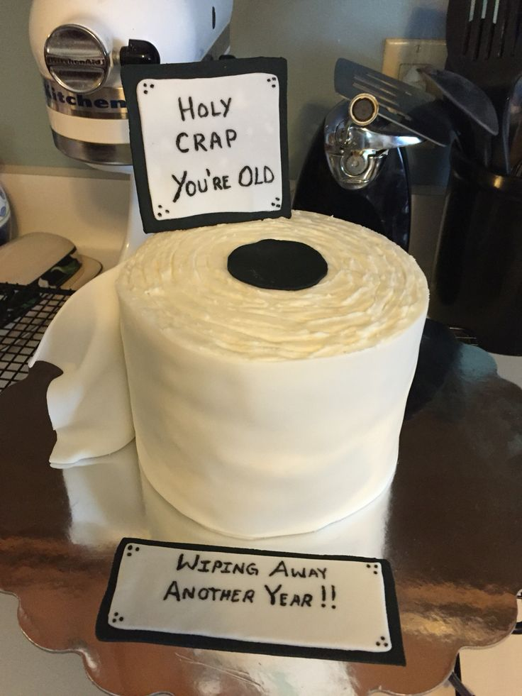 40th Birthday Cake Ideas Toilet Paper