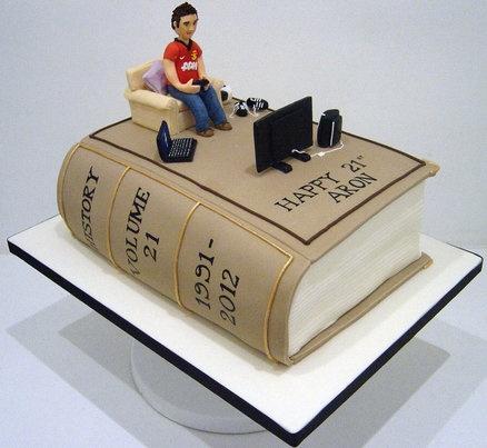 Amazing 11 Mans Book Cakes Photo Book Lovers Birthday Cake Bible Book Funny Birthday Cards Online Inifodamsfinfo