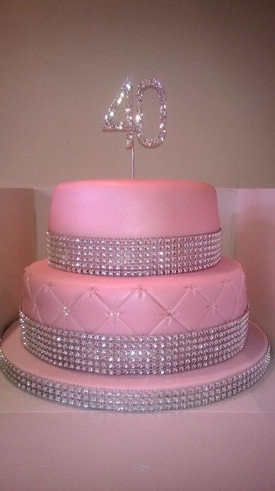 9 Diamond Birthday Cakes With Bling Photo Bling Birthday Cake