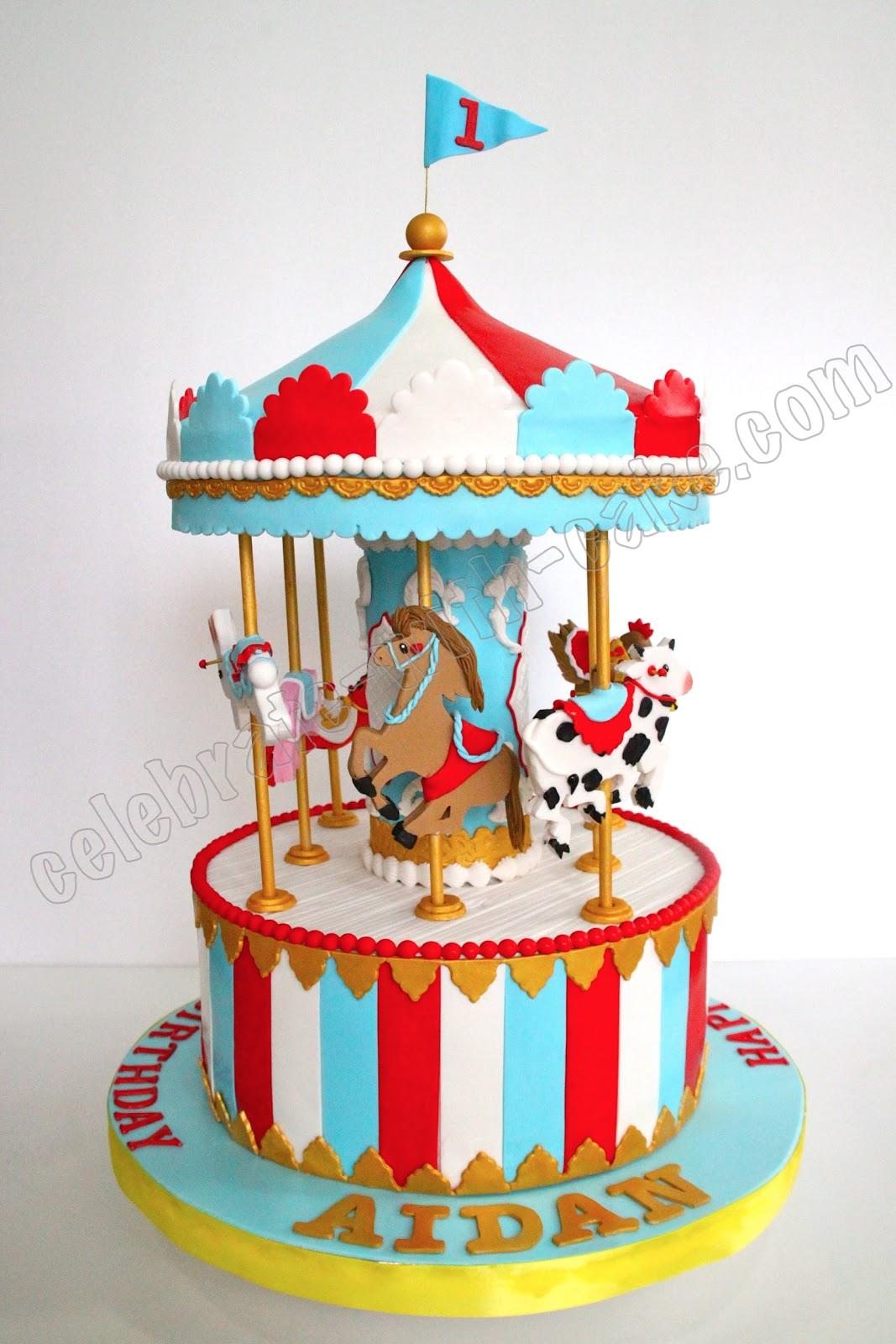 Fantastic 10 Circus Carousel Cakes Photo Carousel Birthday Cake Carousel Personalised Birthday Cards Akebfashionlily Jamesorg