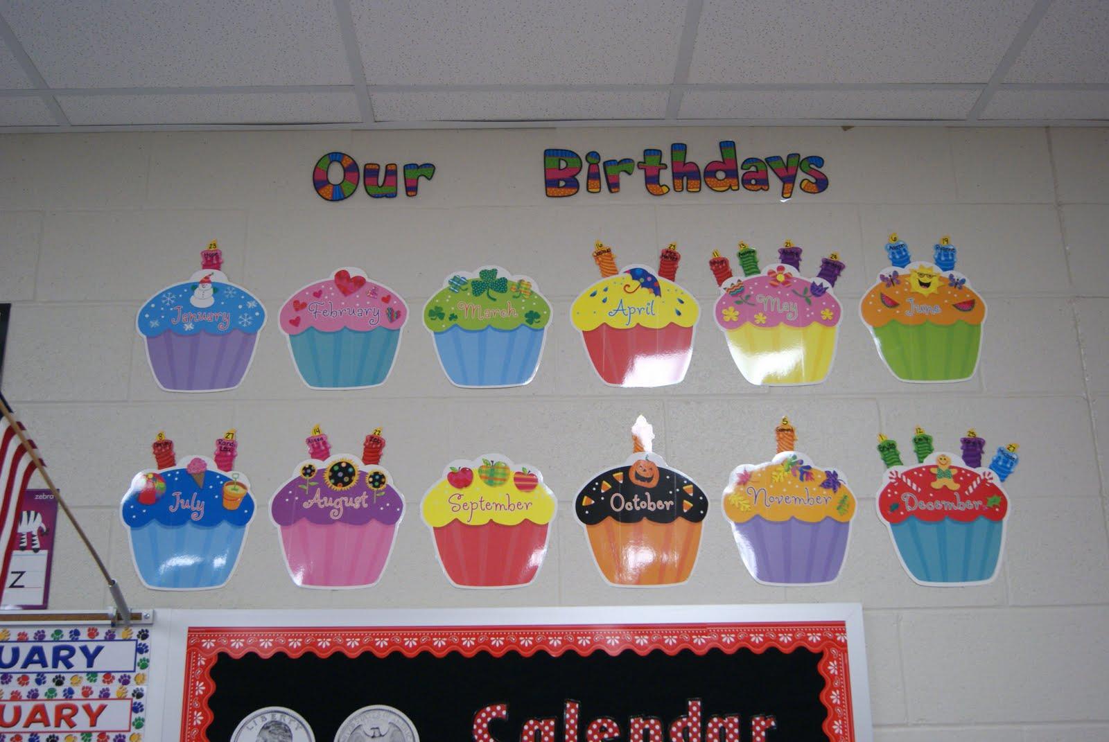 6 Birthday Cupcakes Classroom Display Photo Printable Classroom