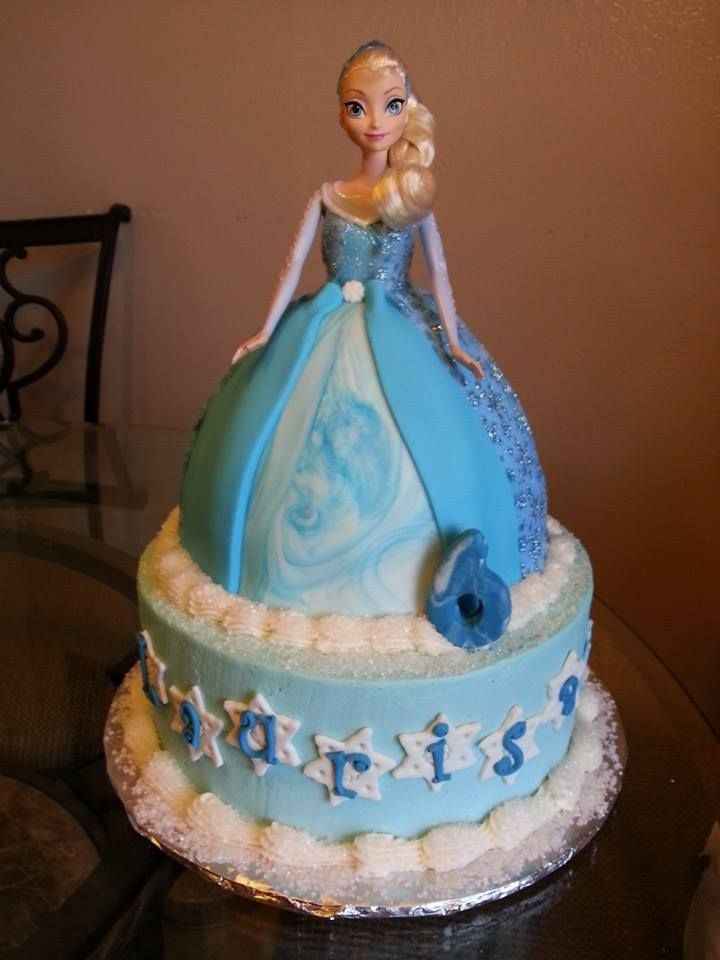11 Disney Frozen Doll Cakes Photo Disney Frozen Cake Disneys
